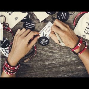 Love Project SKINNY RED LOVE BRACELET